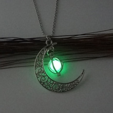 Necklace with Fluorescent Pendant