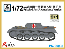S model PS720093 1 72 Pz kpfw I Ausf A Ambulance Version Plastic model kit