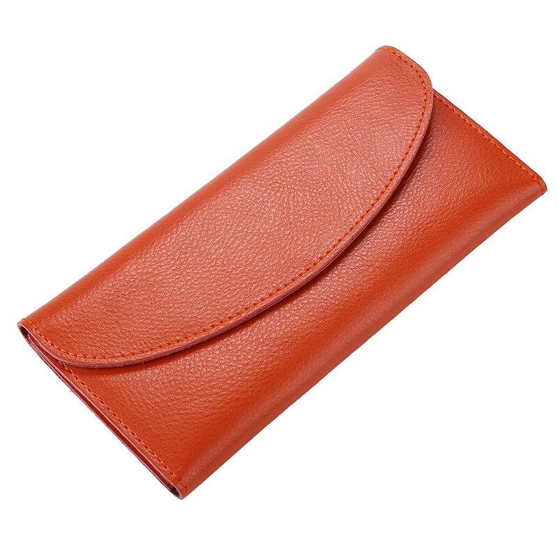 2018 Fashion Genuine Leather Wallet for Women Long Envelope Wallets Hasp Women Purse Female Thin Wallet Clutch Portomonee HB69
