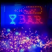 Fashion Style Animated Motion LED Restaurant Cafe Bar Club SIGN +On/Off Switch Open Light Neon 110V/220V