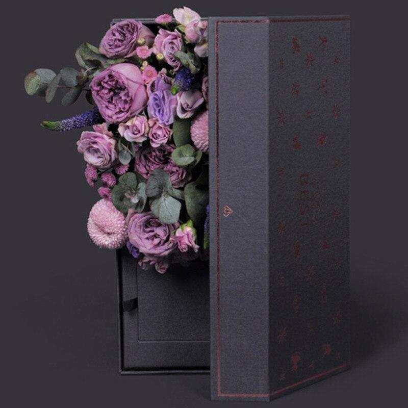 4 pièces carton fleurs boîte emballage fleur Bouquet cadeau emballage artisanat papier d'emballage Kraft Floral matériaux d'emballage