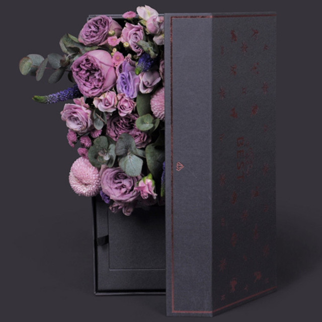 4pcs Paperboard Flowers Box Packaging Flower Bouquet Gift Packaging Craft Wrapping Paper Kraft Floral Packaging Materials