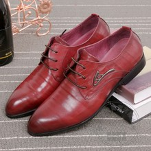 Youth Solid Color Soft Leather Formal Shoes Wedding Shoes Grooms Leather Men Shoes High Top Luxury Cowhide Prom Plain
