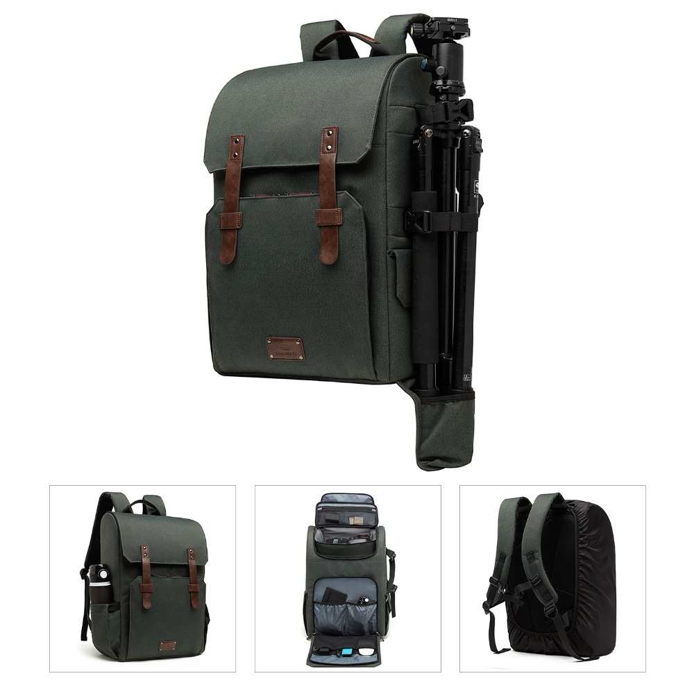 Bagsmart 15.6 ''노트북 학교 가방 방수 카메라 배낭 slr/dslr 카메라 레인 커버-에서백팩부터 수화물 & 가방 의  그룹 3