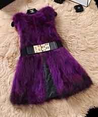 Из натурального меха серебристой лисы, жилет природа Для женщин лисий мех жилет фабрика изготовленный на заказ большие размеры, куртка из искусственного меха, TFP872 - Цвет: Purplered