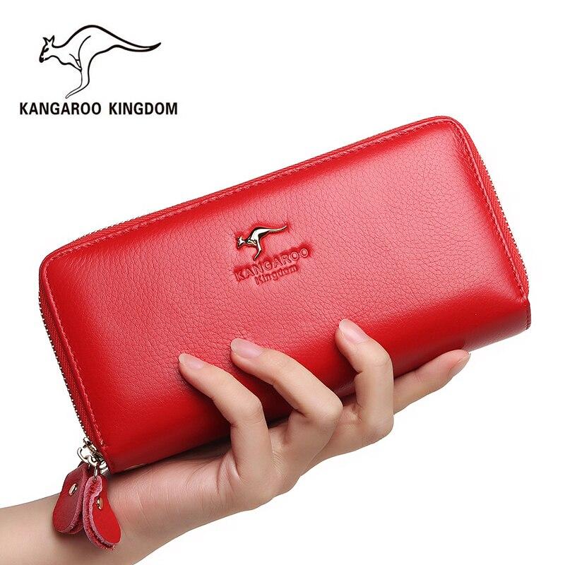 Кенгуру Королевство Для женщин кошельки из натуральной кожи Длинный кошелек Для женщин клатч Марка женский кошелек