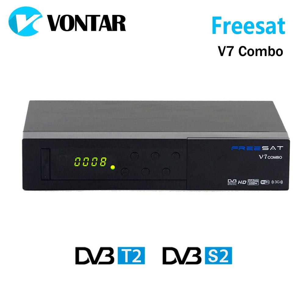 Genuine Freesat V7 Combo DVB S2 DVB T2 Satellite Receiver with PowerVu Biss Key Cccam
