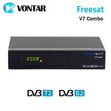 [Подлинная] Freesat V7 Combo DVB S2 + T2 DVB Спутниковый Ресивер с PowerVu Biss Ключ Cccam Newcam Youtube USB Wi-Fi Set Top Box