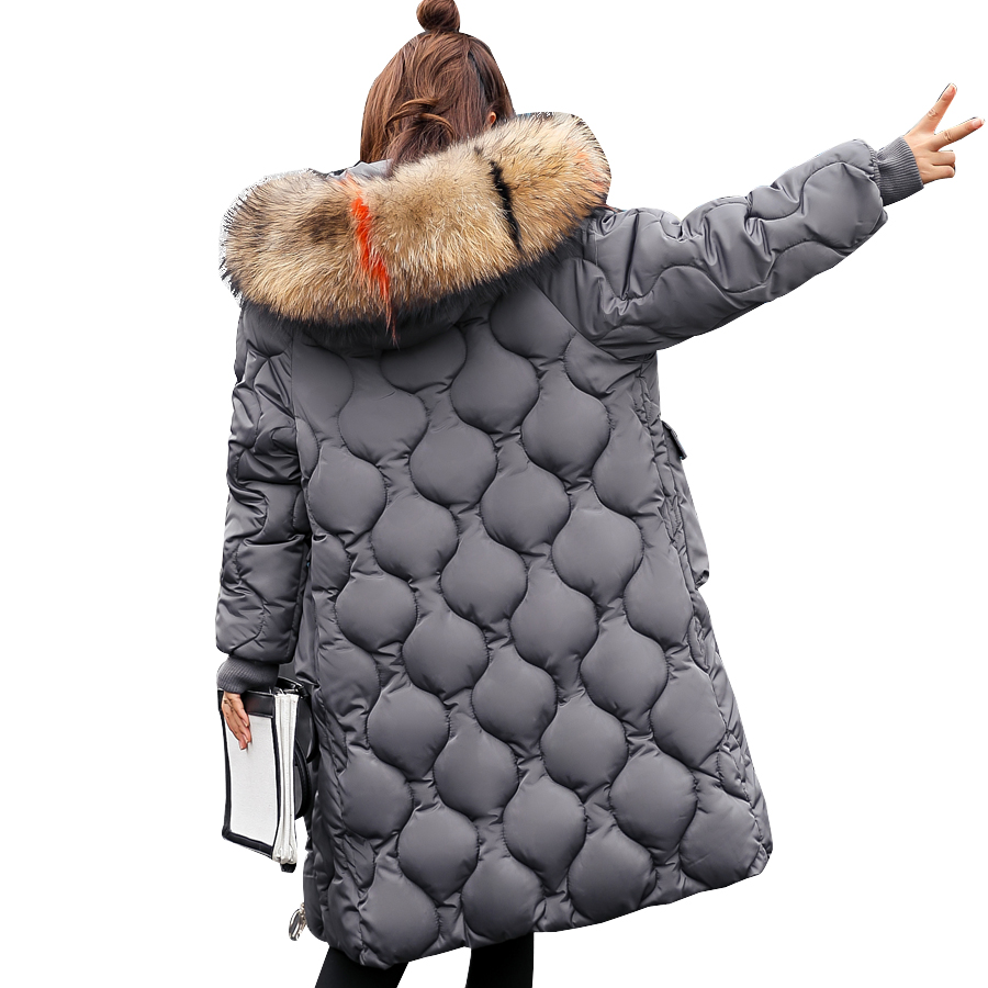 winter jacket women 2019 fashion down cotton long coat women hooded casual outwear fur collar   parka   thicken warm coat plus size