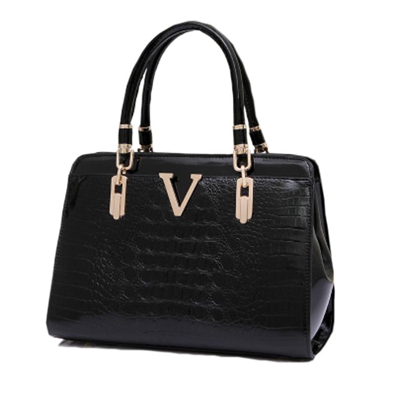 2017 V Patent Leather Women Handbag Women Messenger Bags Ladies New Shoulder Bag