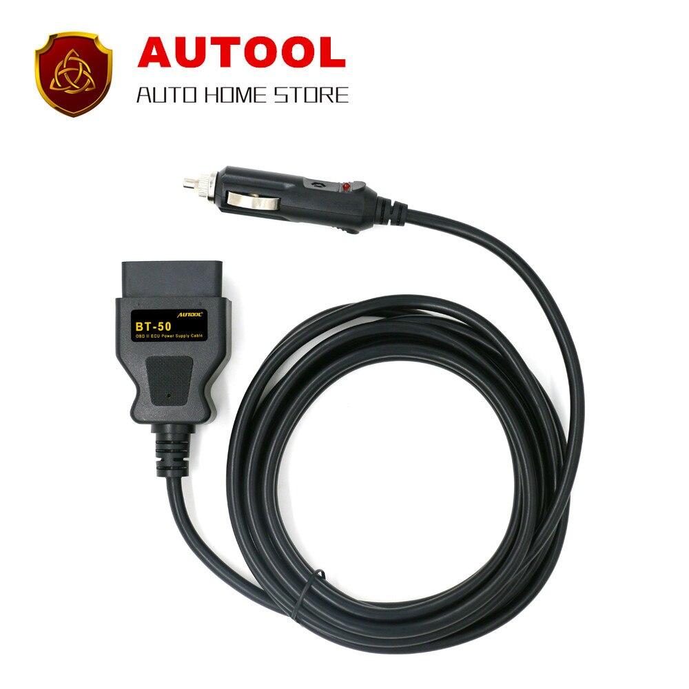 Prix pour AUTOOL BT-50 Memory Saver ECU Interface de Puissance/Connecteur OBD2 Véhicule ECU D'urgence Puissance Pour 12 V DC Source D'alimentation Câble d'alimentation