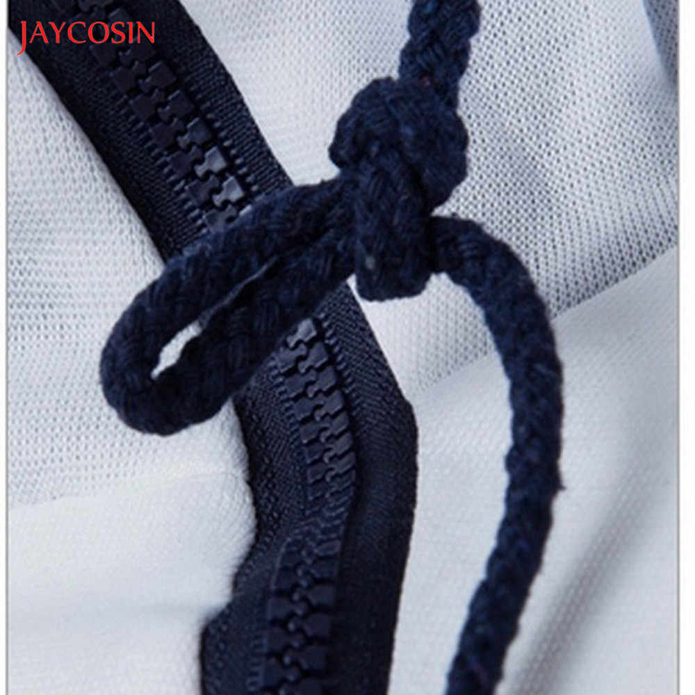 Jaycosin בגדי גברים רוכסן טלאי הסווטשרט סווטשירט אביב סתיו מזדמן ארוך שרוול 3XL O-צוואר ספורט תרגיל למעלה חולצה