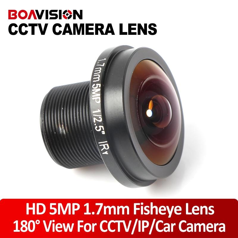 Fisheye 5MP 1.7mm Lens 180 Degrees IR Lens Night Vision Lens 1080P HD CCTV Lens For HD IP /CVI/TVI/AHD Camera hd 5 0mp 12mm lens 1 2 5 ir board cctv lens m12x0 5 mtv for ir 720p 1080p ahd tvi cvi security ip wifi mini ir camera