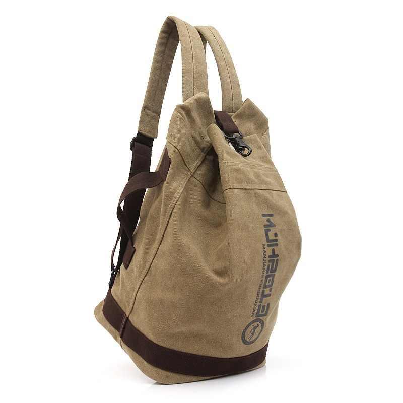 f1e7f38f0e Back Pack Men Unisex Canvas Backpack School Bags Laptop Bag Travel Casual Backpack  Men Vintage Rucksack
