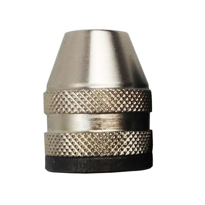 High Quality M8X0.75 Keyless Drill Bit Chuck Rotary Tools Quick Change Adapter Converter White/Black