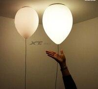 Contemporary Kids Bedroom Balloon Ceiling Lights Creative Children Ceiling Light Glass Abajur Living Room Ceiling Lamp LED E27