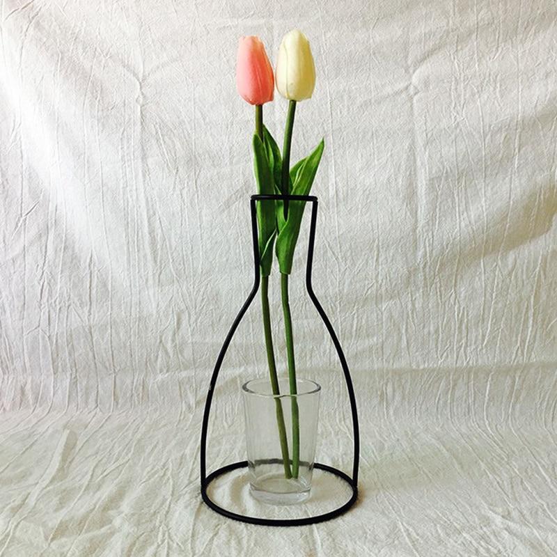 Iron Shelving Flower Vases 2