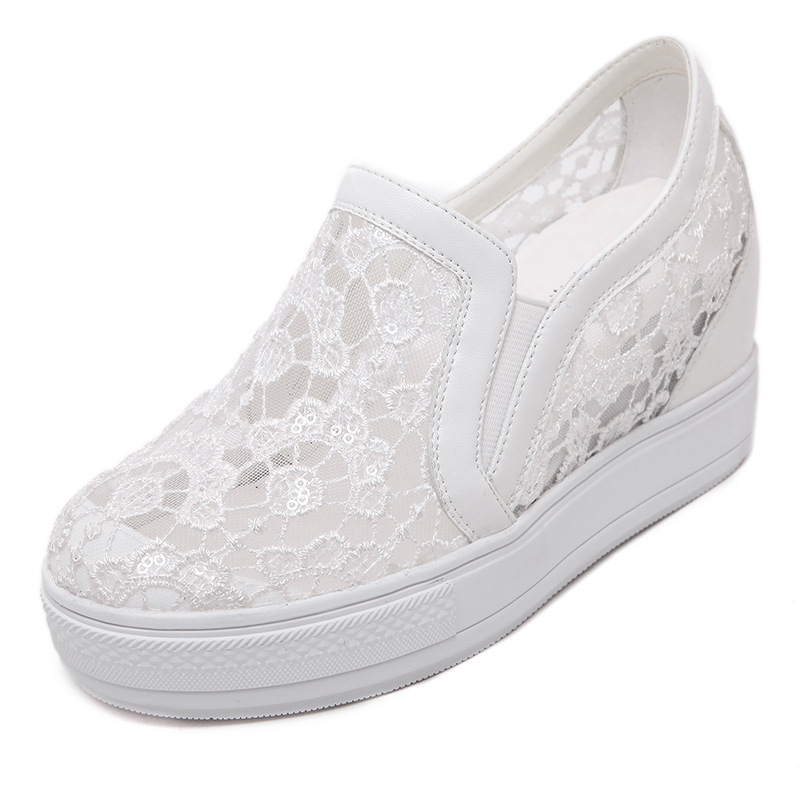 Mesh Embroider 2019 Spring And Autumn New Women Casual Shoes Fashion Breathable Flat Shoes Sneakers Women 34 35 36 37 38 39 40