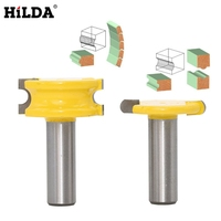 HILDA Milling Cutter Router Bit 2pcs Shank 1 2 Diameter Canoe Flute And Bead Router Bit
