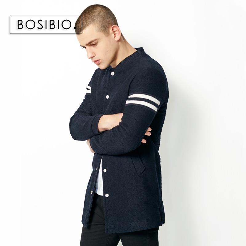 2017 herbst Frühling Lange Trenchcoat Mode Männer Dünne Dunkle blau Mantel Hohe Qualität männer Slim Einreiher Jacke Mantel 9003-in Trench aus Herrenbekleidung bei  Gruppe 3
