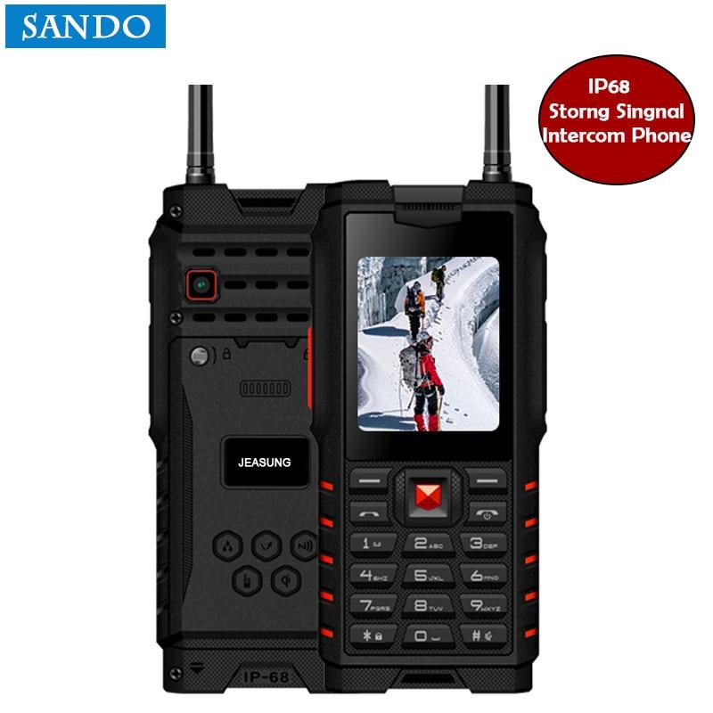 Jeasung T2 ip68 Mobile Phone 2.4 Inch Rugged Feature Phones 2G Walkie-talkie 4500mAh Russian Language keyboard