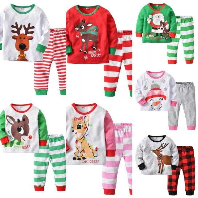 6109642ba4 Kids Pijama Boys Girls Pijamas Cotton Pyjama Baby Boy Girls Christmas  Pajamas Pyjamas Kids Toddle Homewear