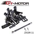 GT Motor-Full CNC de alumínio Da Motocicleta Rearsets Conjunto Traseiro Para ZX10R ZX-10R 2011