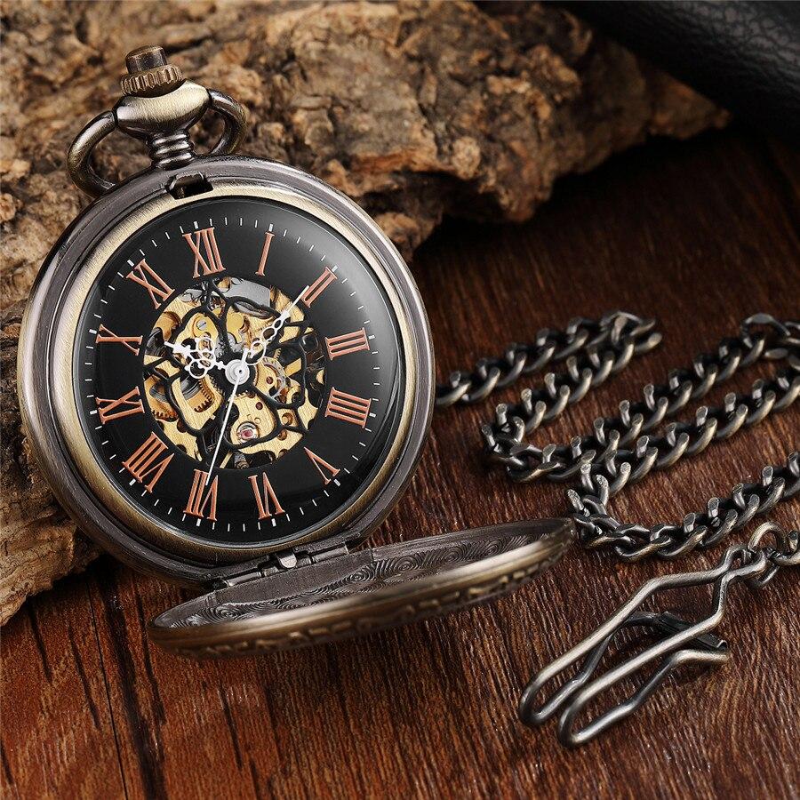 Único Roman Mecânica Pocket Watch Antigo Águia