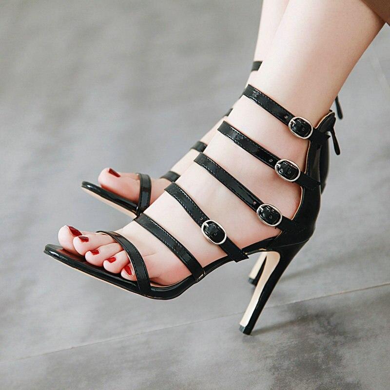Schuhe ZuverläSsig Rass Ple 2019 Sommer Strappy Gladiator Sandalen Thong Sandalen Frauen Wohnungen Schuhe Damen Flip-flops Chaussure Schwarz Größe 35-43 Frauen Schuhe