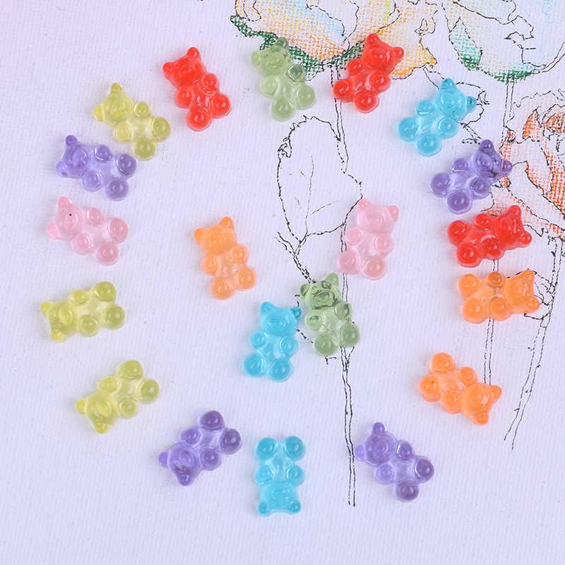 10 sztuk zestaw DIY akcesoria dla dzieci prezent symulowane niedźwiedź cukierki polimerowe pudełko szlamowe zabawki dla dzieci Charms modelowanie gliny