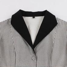 Tonval Short Sleeve Vintage Plaid Shirt Blouse Women 2018 Summer Office Tops Turn-down Collar Cotton Blouses