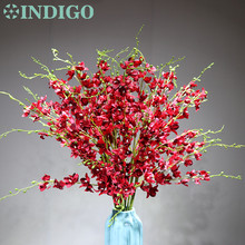 15pcs/lot Red Little Dancing-lady Orchid Flower Artificial Flowers Wedding Party Banquet Decoration  Free Shipping