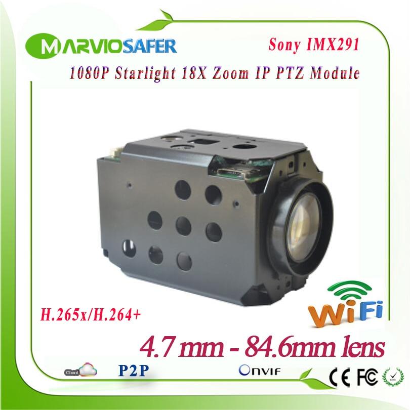 2MP FULL HD 1080 p IP Wifi CAMÉRA Réseau PTZ Module CCTV Starlight Coloré Vision Nocturne Sony IMX291 18X Optique zoom RS485