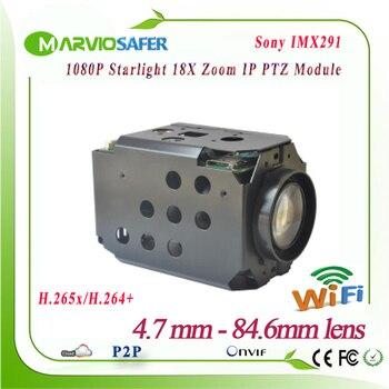 2MP FULL HD 1080P IP Wifi kamera sieciowa PTZ moduł CCTV Starlight kolorowe noktowizor Sony IMX291 18X zoom optyczny RS485