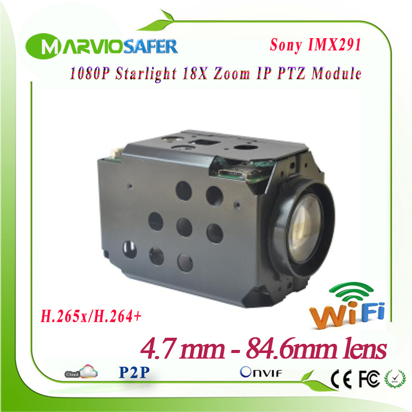 2MP FULL HD 1080P IP Wifi PTZ Network Camera Module CCTV Starlight Colorful Night Vision Sony IMX291 18X Optical Zoom RS485