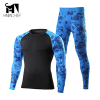 New Men Fleece Thermal Outdoor Sport Underwear Motorcycle Skiing Quick Drying Warm Base Layers Tight Long