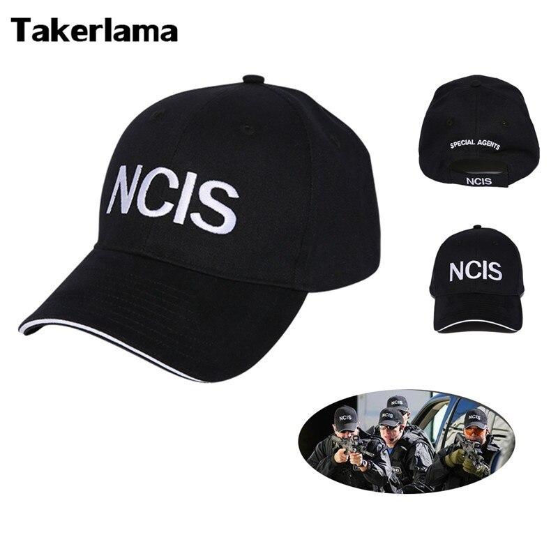 2017 NCIS Kappe Stickerei Hut Spezielle Agenten Logo Hut Naval Criminal Investigative Service Film Cap Verstellbare Baseballmütze