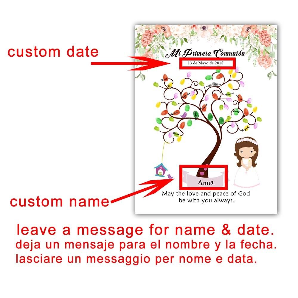 Personalizzato Mi Primera Comunione Regalo Guestbook Creativo Prima