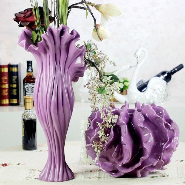 Modern minimalist floor vase flower ornaments new home decorative ...