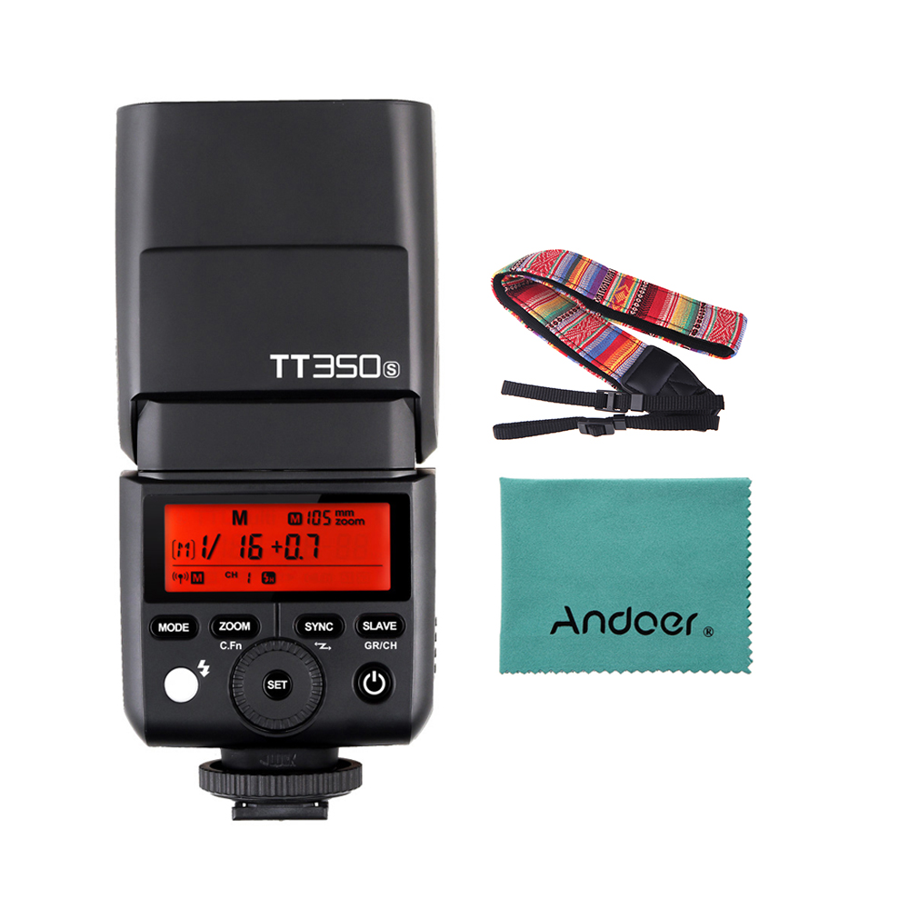 Godox TT350S Portable Speedlite 2 4G Wireless Master Slave 1 8000S HSS TTL Flash Speedlight for