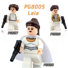 PG8005 3pcs/lot Princess Leia Star Wars Minifigures Collection LEIA Minifigures Limited Star Wars Children Gift Toys