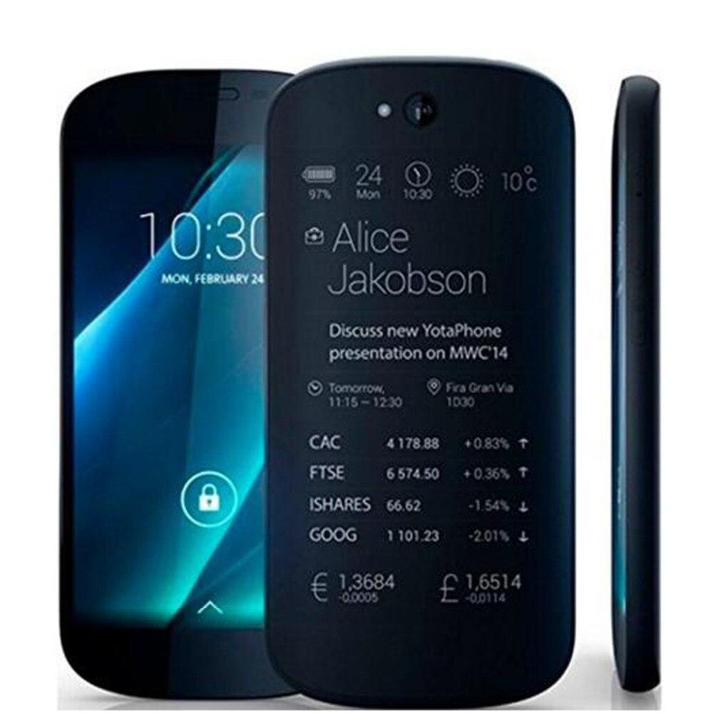 Yota Yotaphone 2 4G Double Éboulis Smartphone 5 HD écran 4.7 tactile E D'encre Snapdragon 800 Chargeur Sans Fil 2G + 32G mobile téléphone