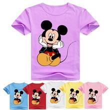 Летний топ для мальчиков, футболка принцессы с рисунком для девочек летняя одежда для маленьких мальчиков футболки с короткими рукавами, одежда для детей от 2 до 12 лет