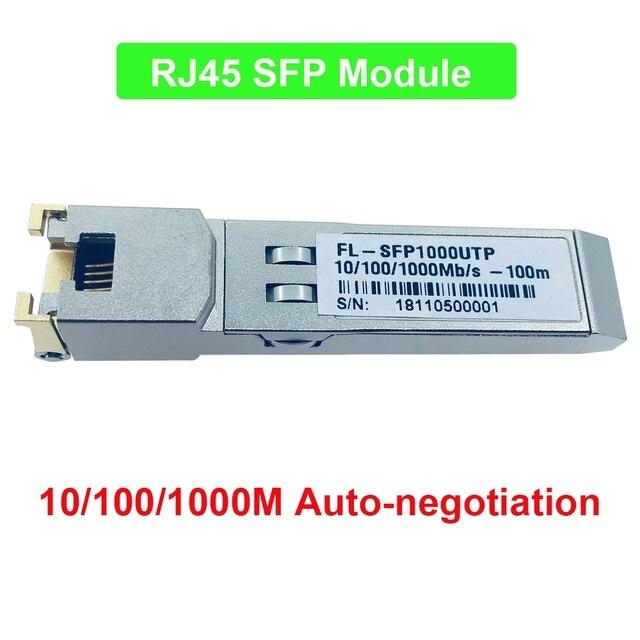 10/100/1000M auto-negotiation converter sfp to rj45 ethernet for gpon epon OLT hot pluggable Fiber optical switch Compatible