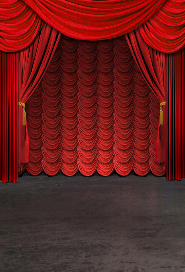 200cm 150cm 6 5ft 5ft Red Stage Opera Stage Performance