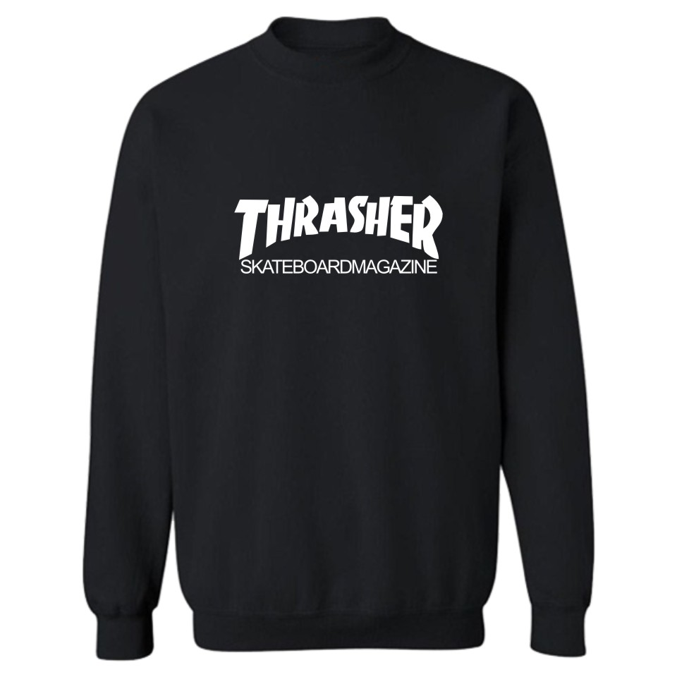 Thrasher Letters Print Hoodies Black Men/Women Fashion And Hip Hop Style Cotton Luxury In Plus Size 4XL Funny Sweatshirts