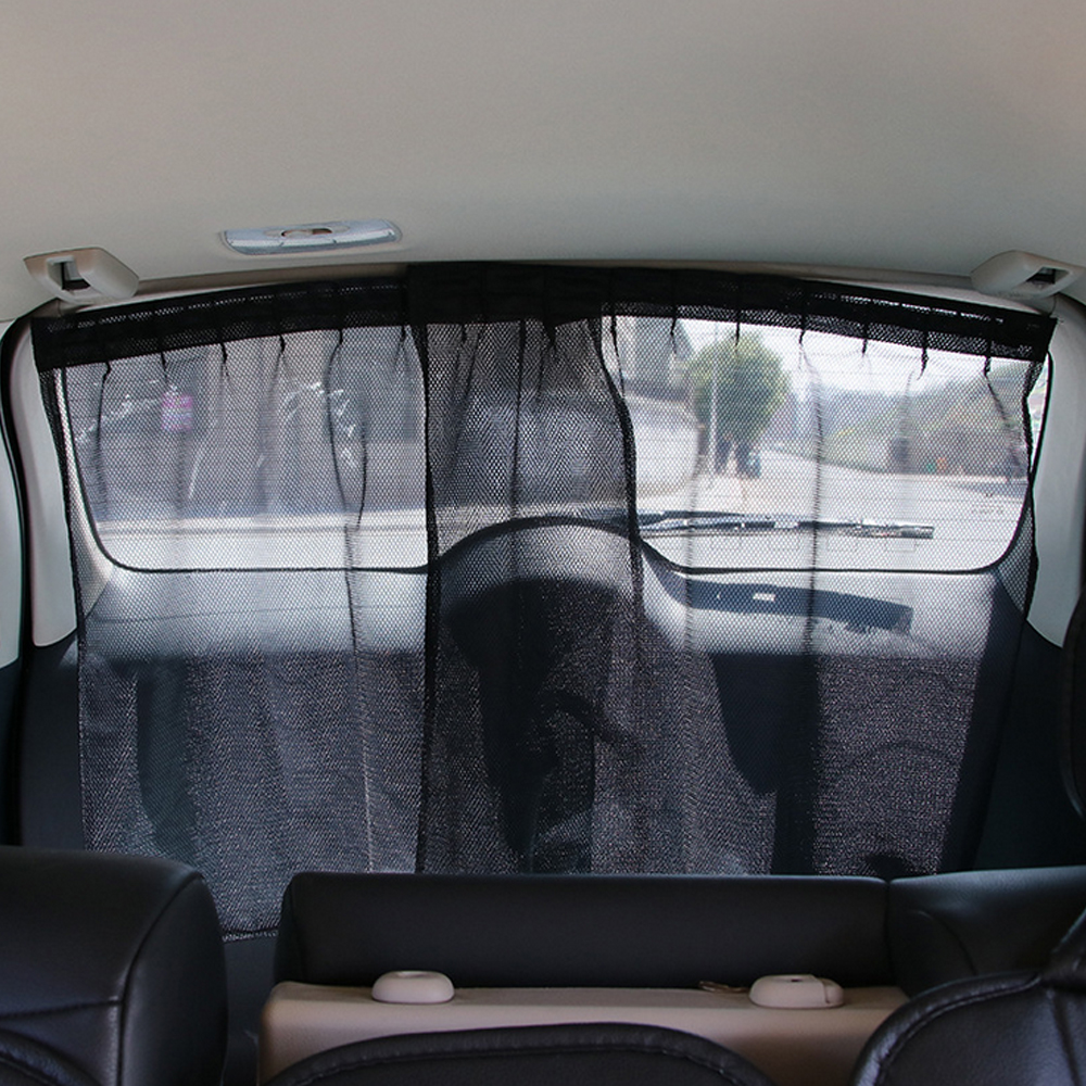 2pcs universal car rear window sunshade curtain uv protection two fabric cloth mesh car window. Black Bedroom Furniture Sets. Home Design Ideas