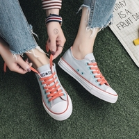 Free Shipping 2014 Summer High Quality Low Canvas Shoes Breathable Casual Flat Bottomed Single Women S
