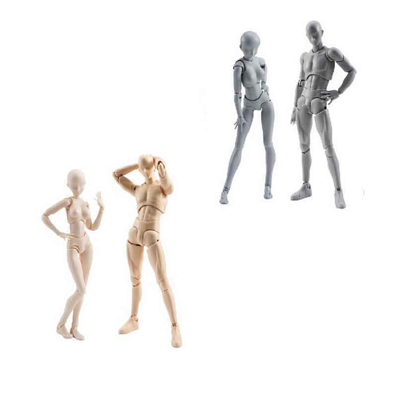 Hot Sale 2 Style Body Chan Pale Gray Color Figma Bandai SHF Ferrite PVC Action Figure Figma toy for children with gift drawing mannequin