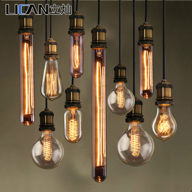 creative ikea edison chandelier lamp bulb braided wire carbon filament nostalgia lighting glass. Black Bedroom Furniture Sets. Home Design Ideas